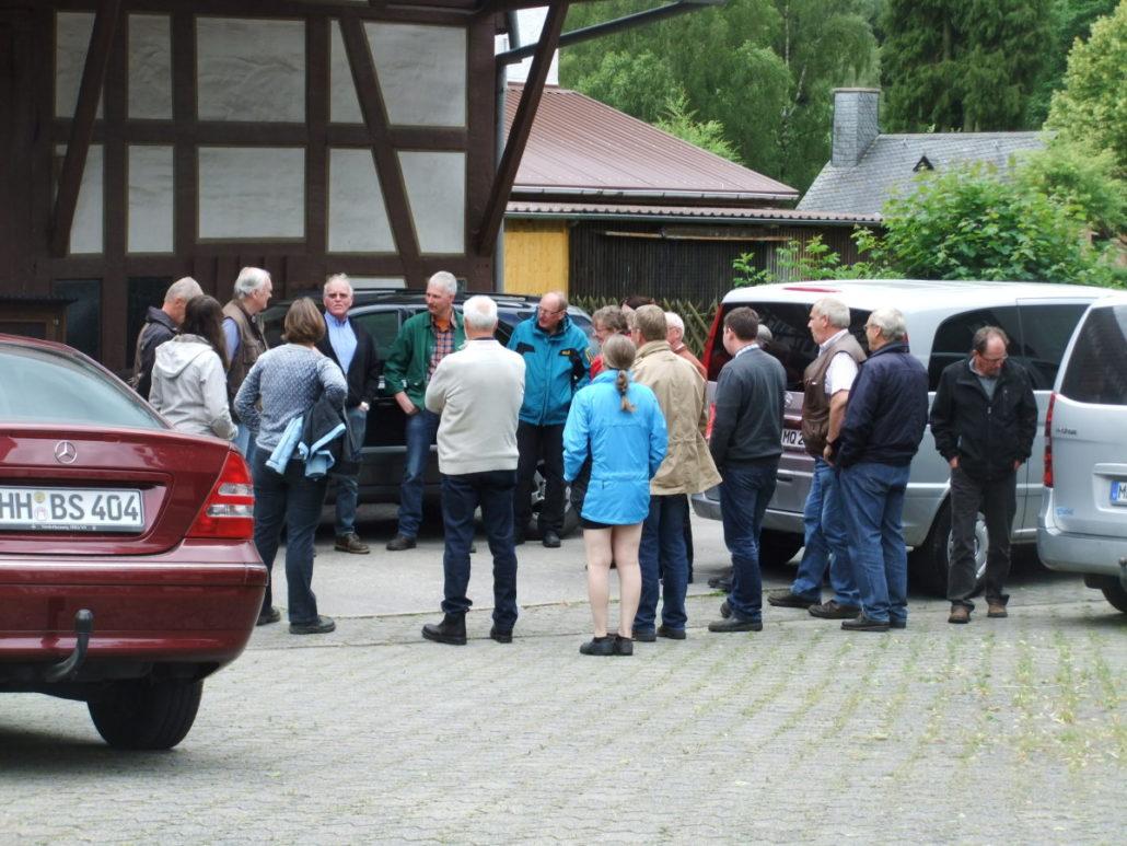 Die Begrüßung bei der Familie Battefeld