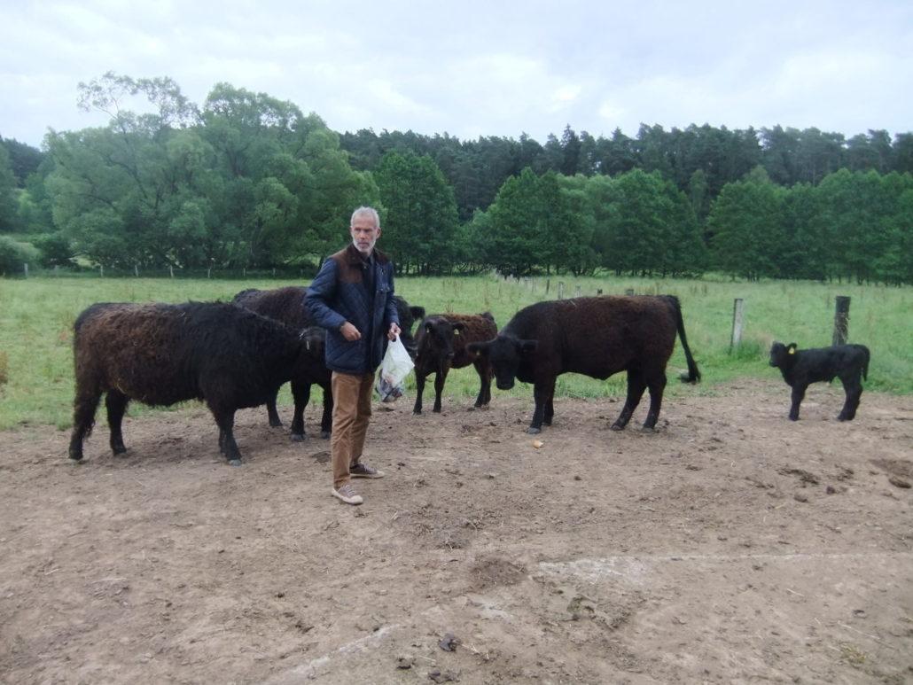 Bernd Schlichterle mit seinen Tieren