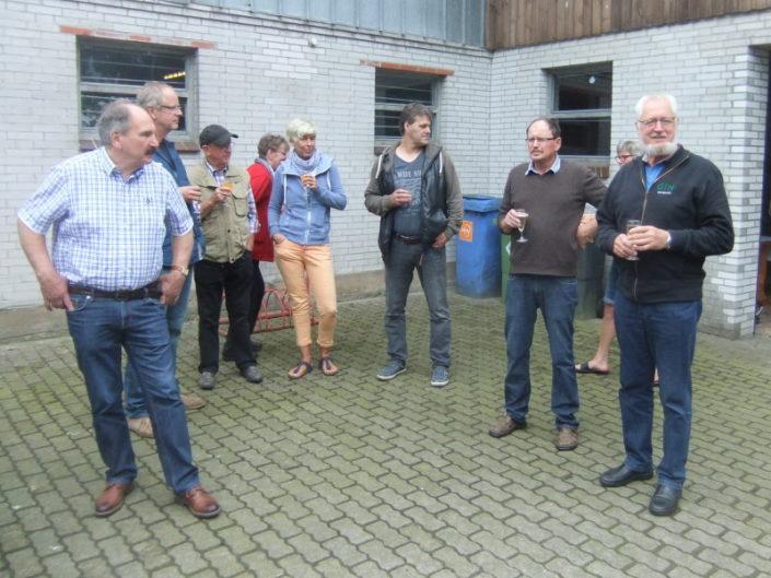 Begrüßung der GIN-Mitglieder durch Willi Quandt